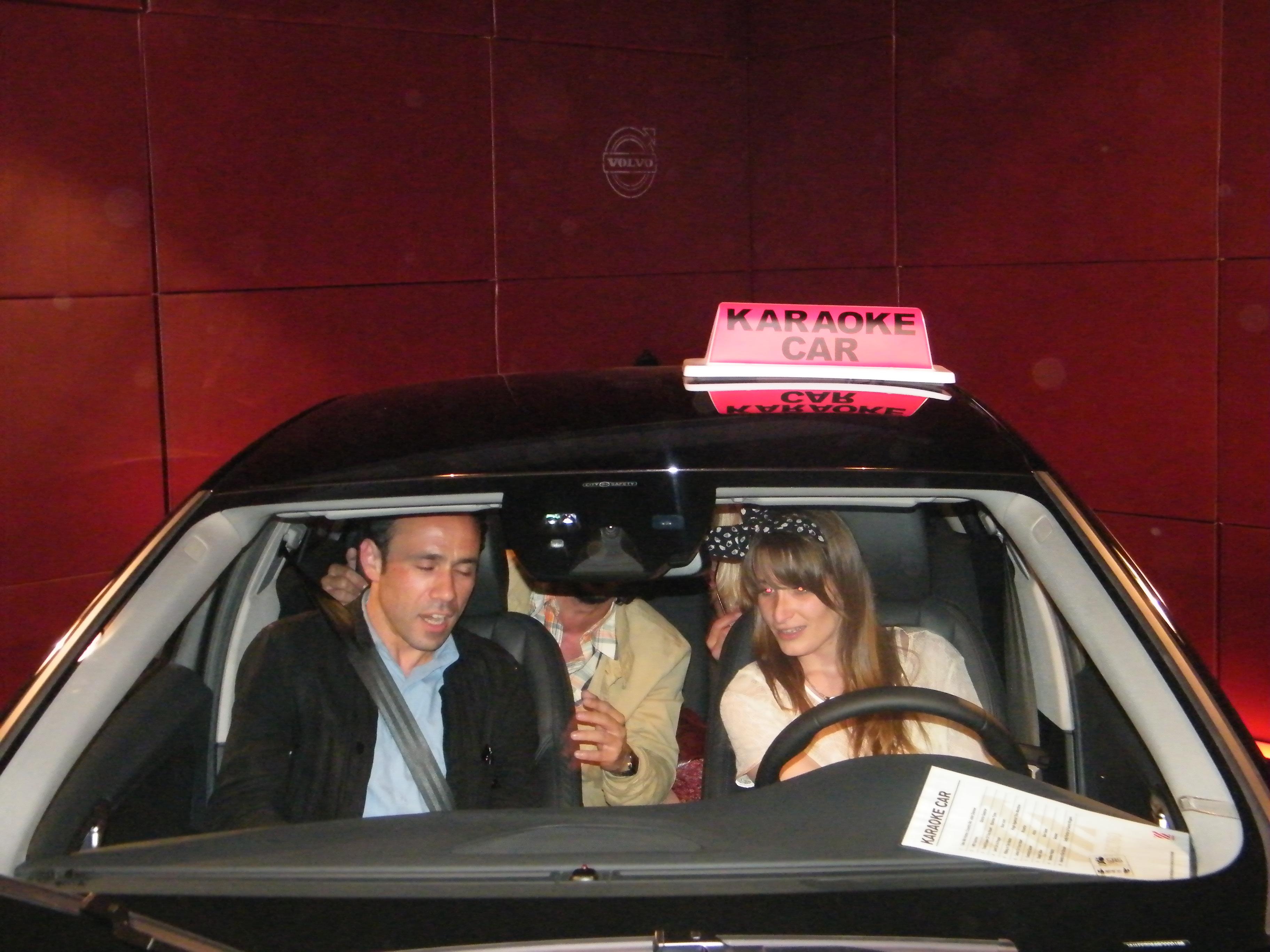 karaoke car volvo s60 paris