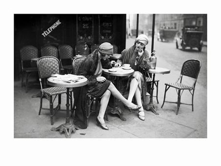 women having coffee in paris