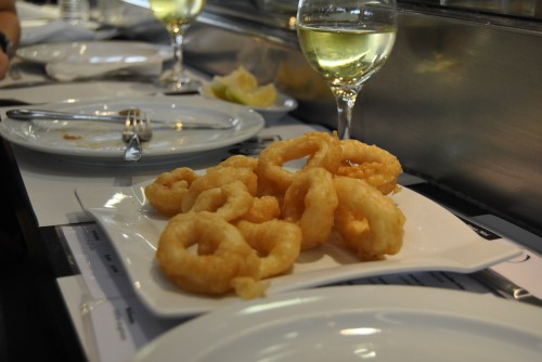 fresh fried calamari at John Boy Barcelona