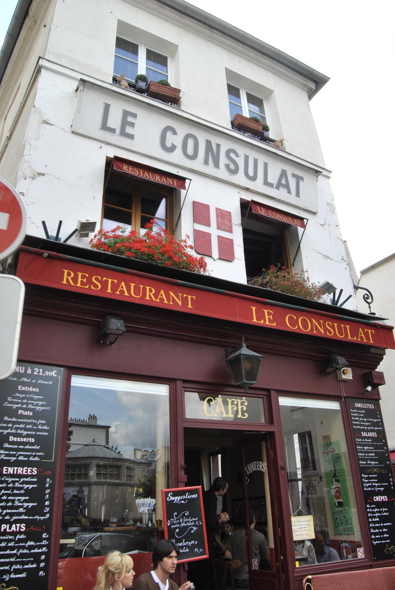 Restaurant Le Consulat Arrondissement Paris