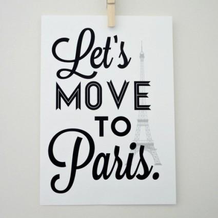 let's move to paris poster