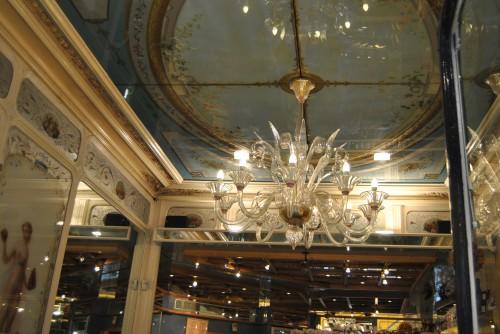 Ceiling inside Stohrer Rue Montorgueil