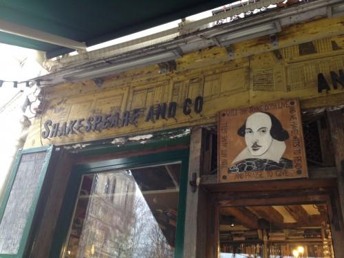 shakespeare paris sign