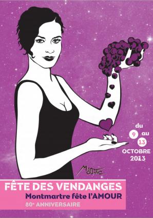 MIss.Tic for Paris wine festival vendanges