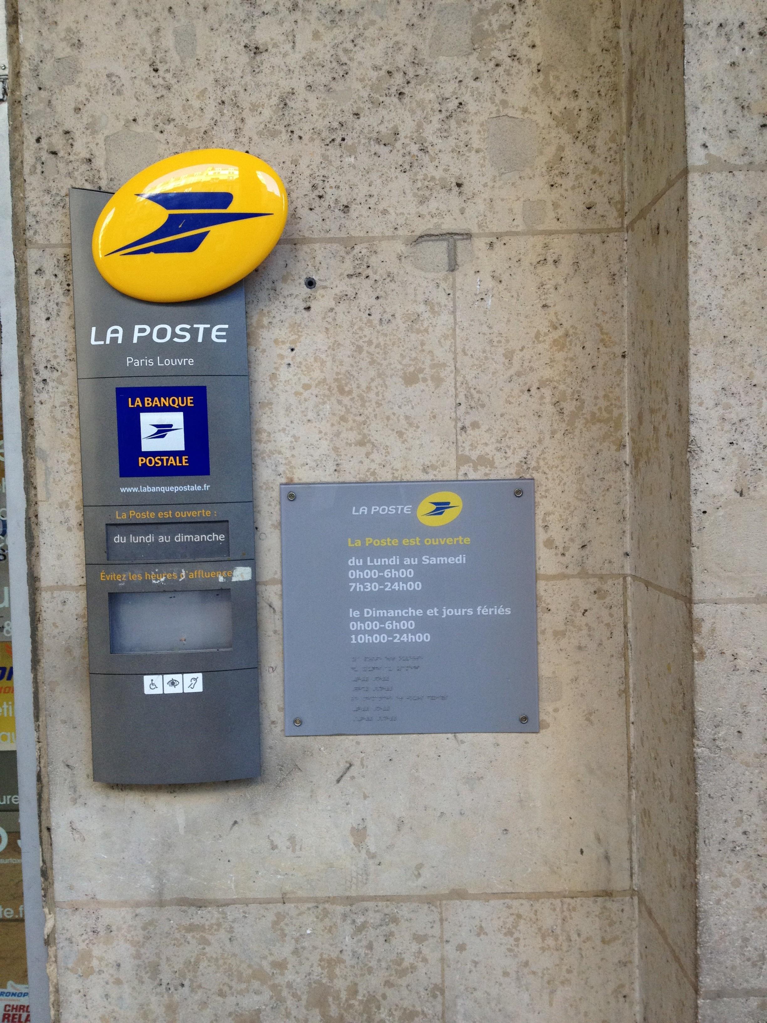 Open Hours Louvre 24 Hr Post Office