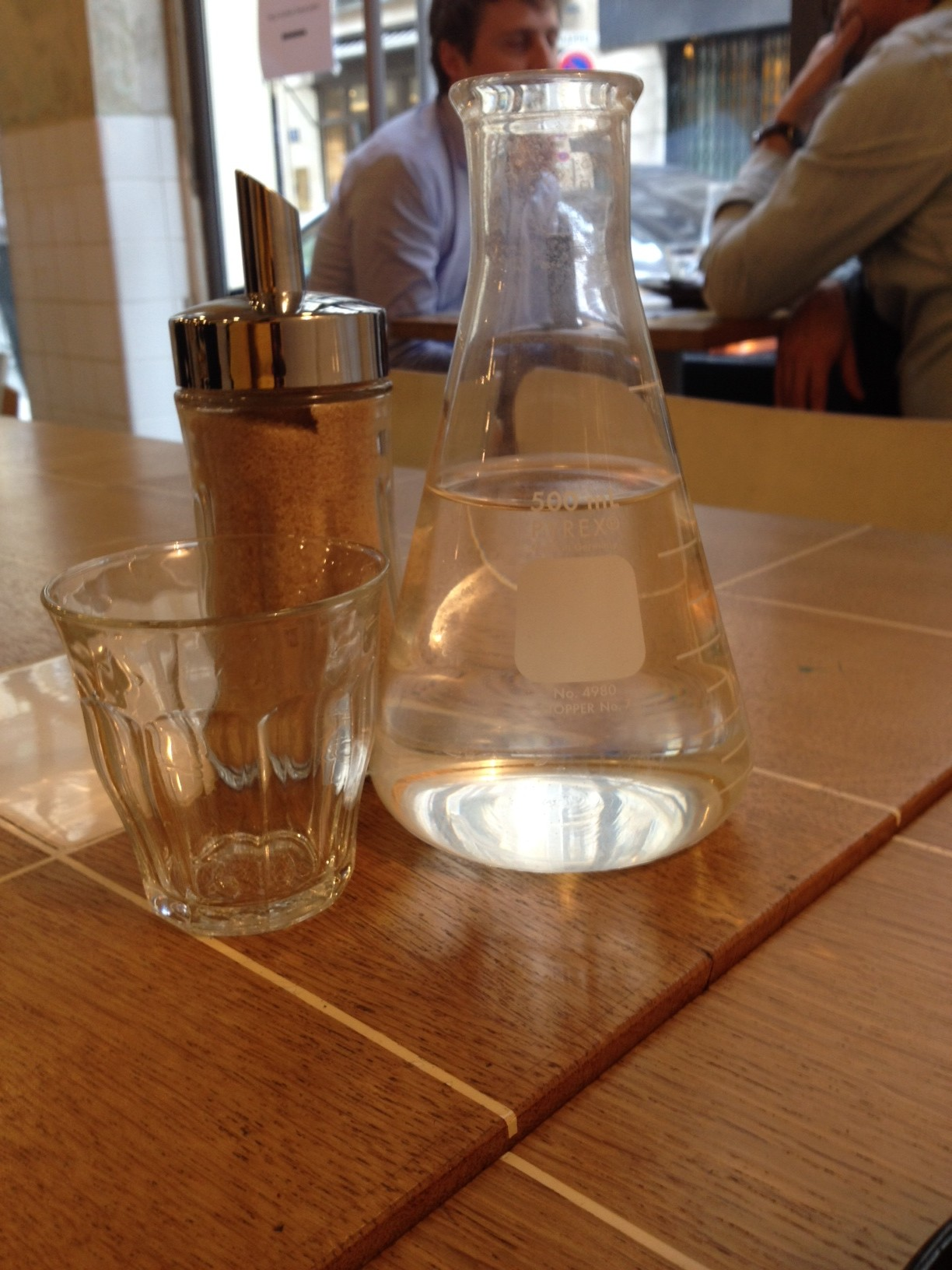 pyrex water bottle paris coutume cafe