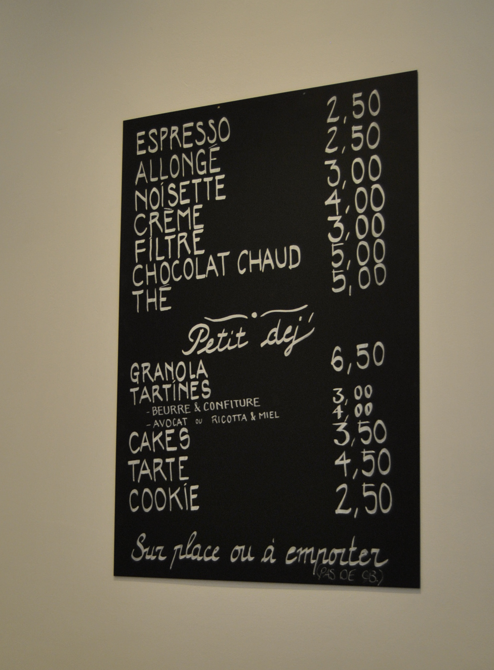 prices cafe paris fondation