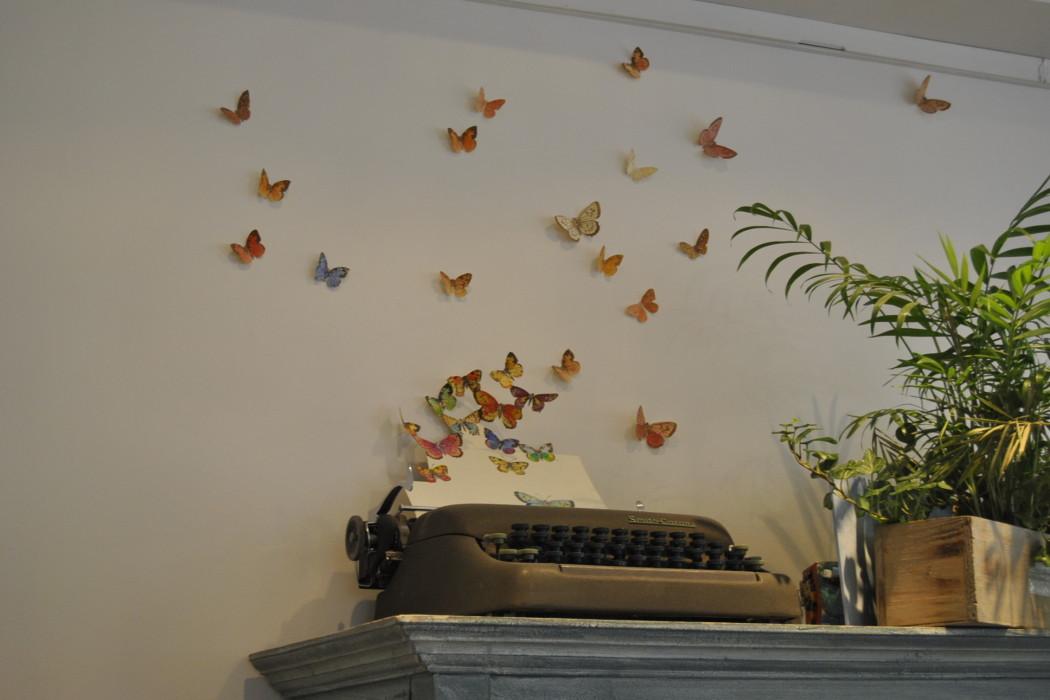 soul kitchen decor paris butterflies on wall
