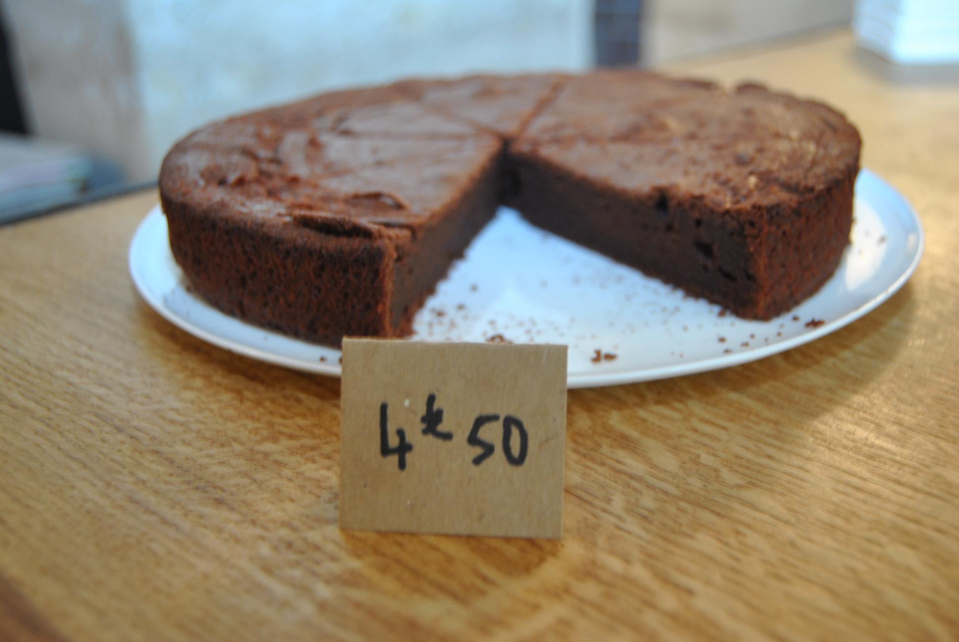 Homemade Chocolate cake paris fragments