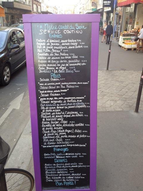 menu baba paris review