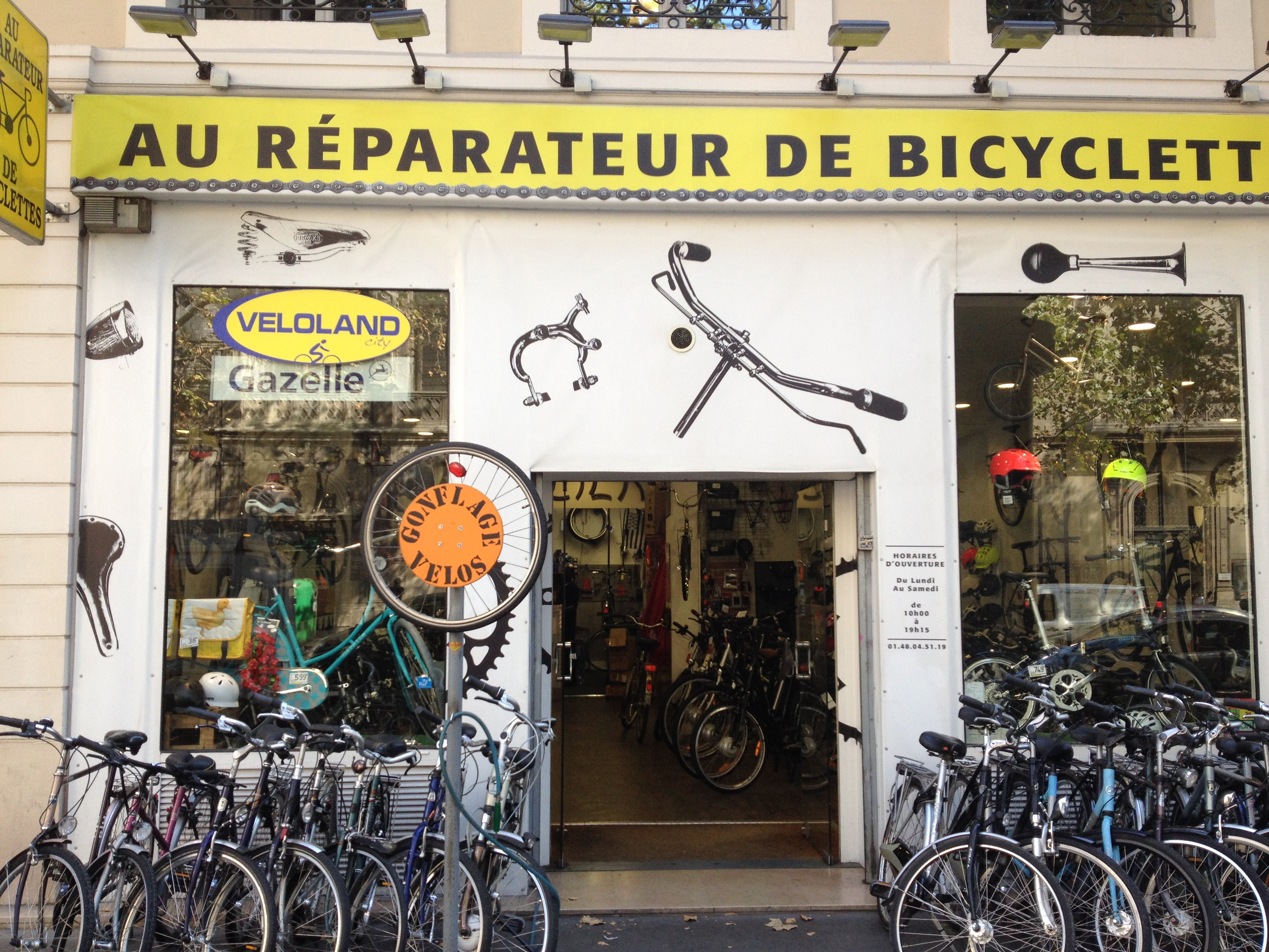 Paris Bicycle Repair Shop