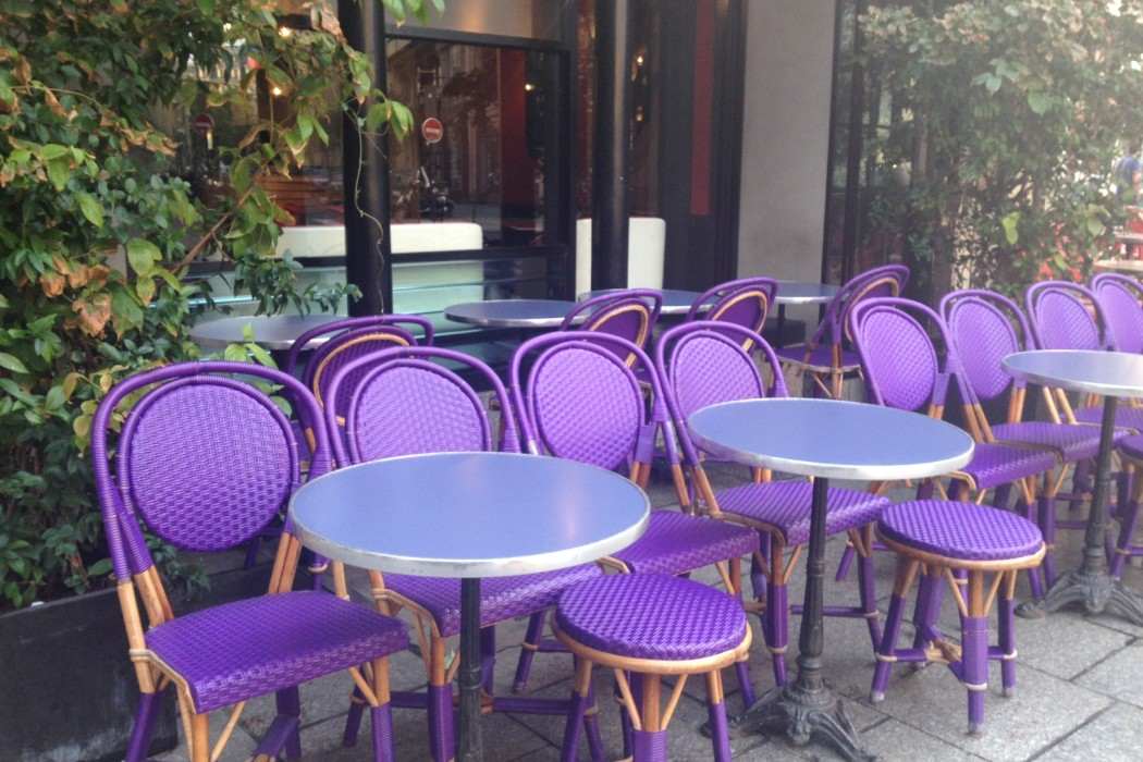 Cafe Paris chairs terrace