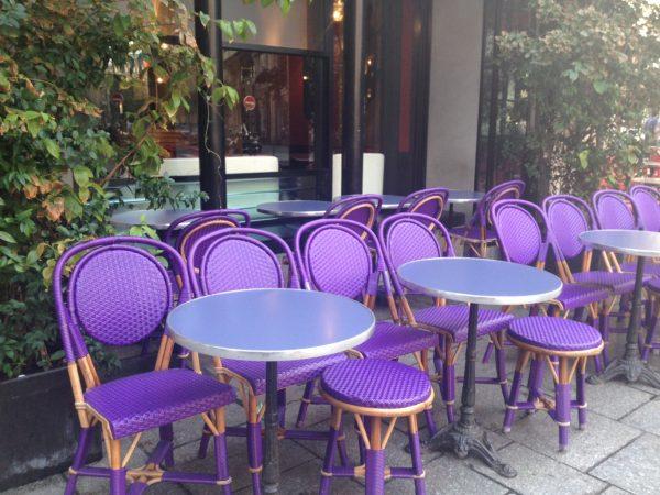 Cafe Paris chairs terrace