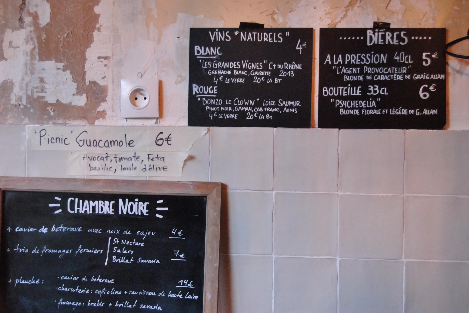 Photos wine bar la chambre noire paris my parisian life for Chambre wine