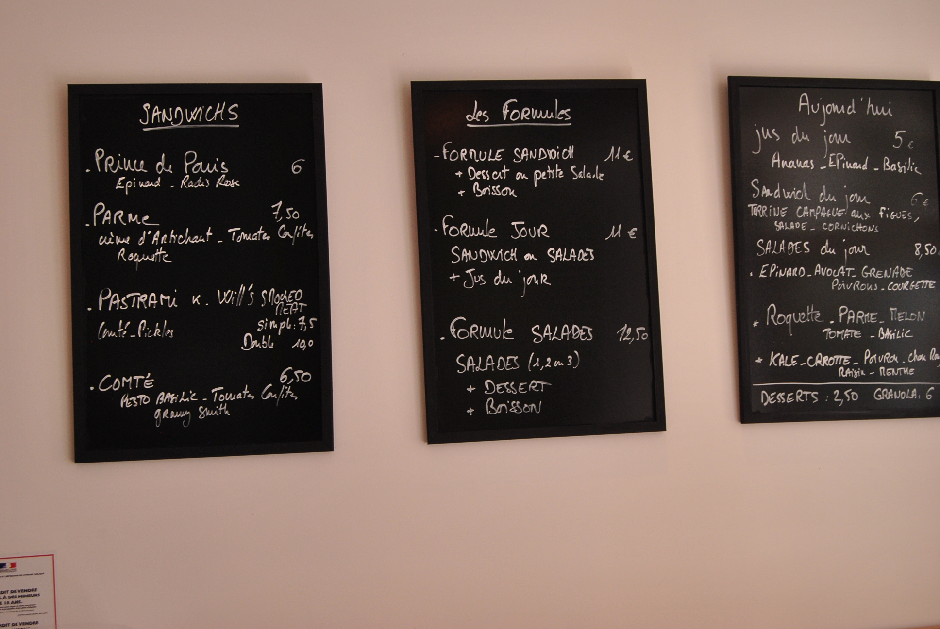 best of paris coffee shop inside menu