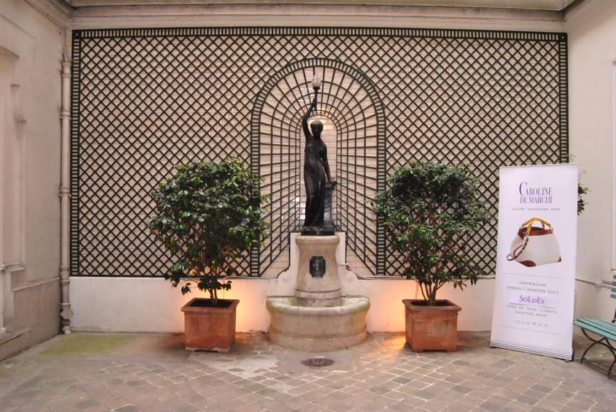 INSIDE COURTYARD CAROLINE DE MARCHI