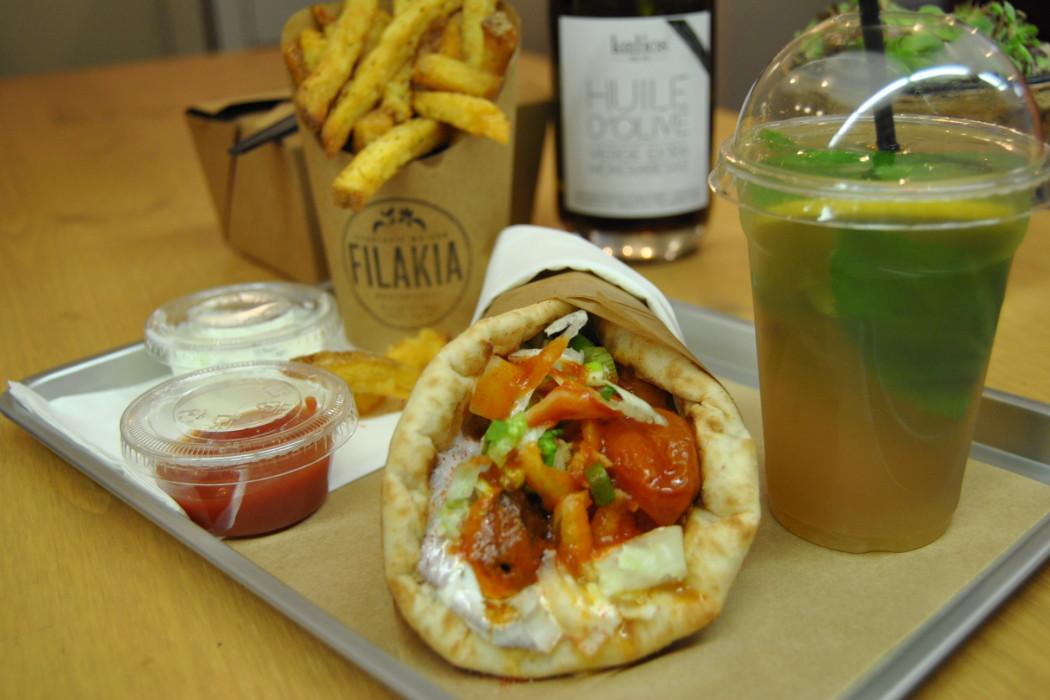 best lunch in paris greek style wrap sandwiches