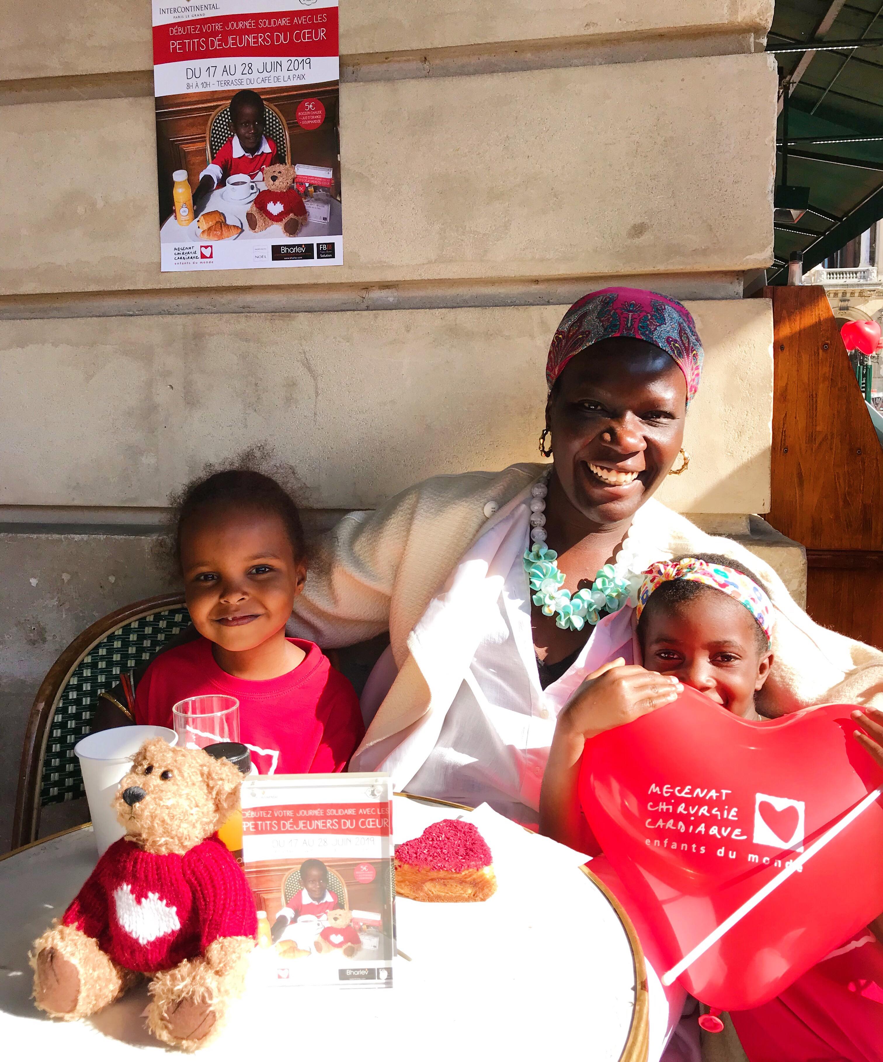Charity breakfast cafe de la Paix