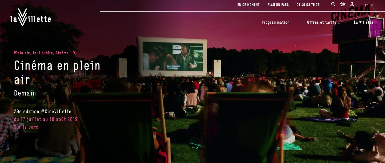 open air cinema paris